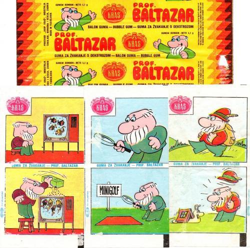 Prof Baltazar rágógumi papírok