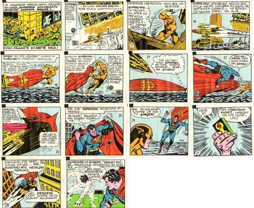 Rágógumi papírok Superman képregénykockákkal