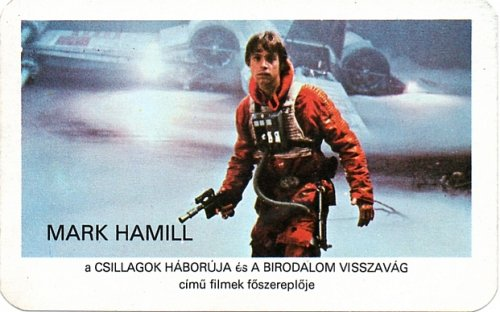 Star Wars Mark Hamill kártyanaptár