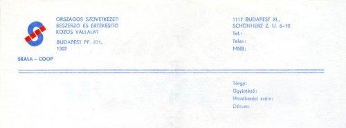 Skála-Coop levél fejléce
