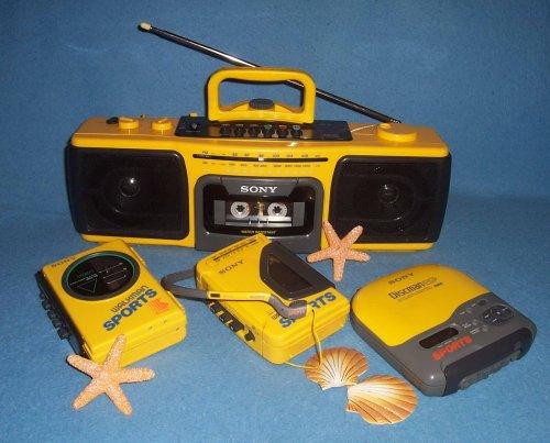 Sony CFS-920 sports vizálló rádiómagnó
