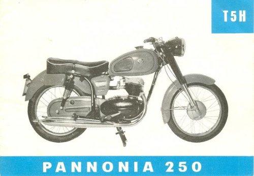 Pannónia T5H motorkerékpár prospektus