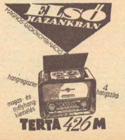 Terta rádiósmagnó 426 M