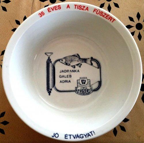 Tisza Füszért tányér