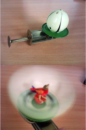 Lemezjáték - forgó tojás