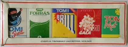 TOMI mosóporok mintakollekciója
