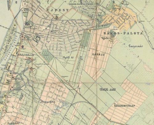 Újpest és Rákospalota térképe 1903