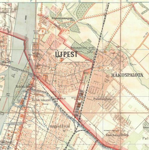 Újpest és Rákospalota térképe 1909