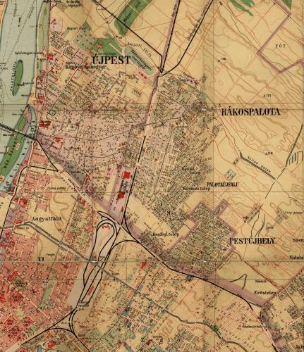 Újpest, Rákospalota és Pestújhely térképe 1928