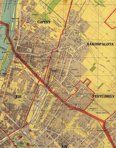 Újpest Rákospalota és Pestújhely térképe 1943