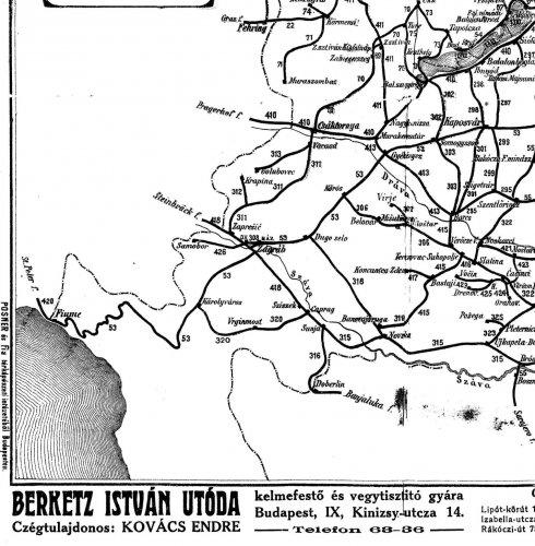 Nagy-Magyarország vasúti térképe 4.