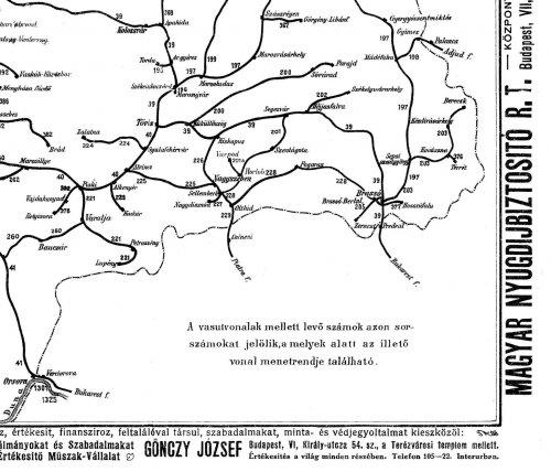 Nagy-Magyarország vasúti térképe 6.