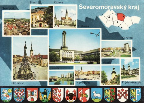 Északmorvai városok és címerek