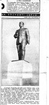 Sztálin szobor felavatása