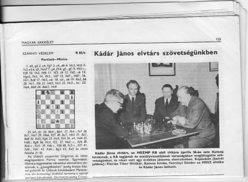 Kádár János a Magyar Sakkszövetségben