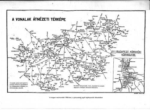 Magyarországi vasútvonalak térképe