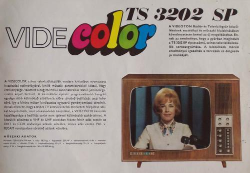 Videoton Videcolor televízió TS 3202 SP színes