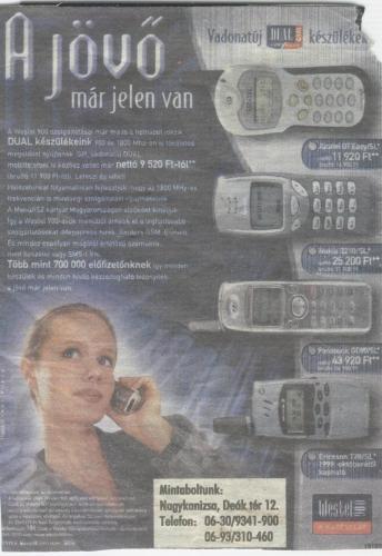 Westel dualband készülékek 1999