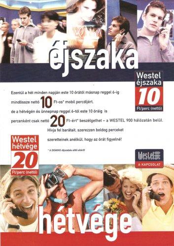 Westel 900 hírdetés