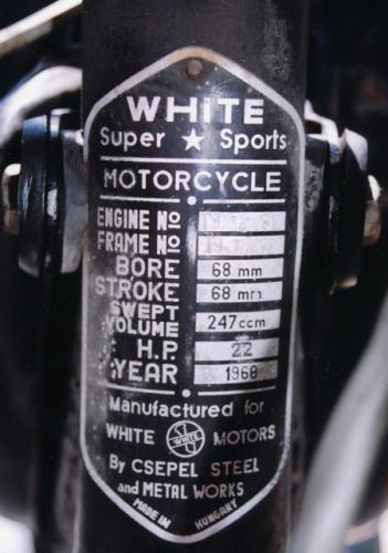 White Pannónia tipustábla angolul