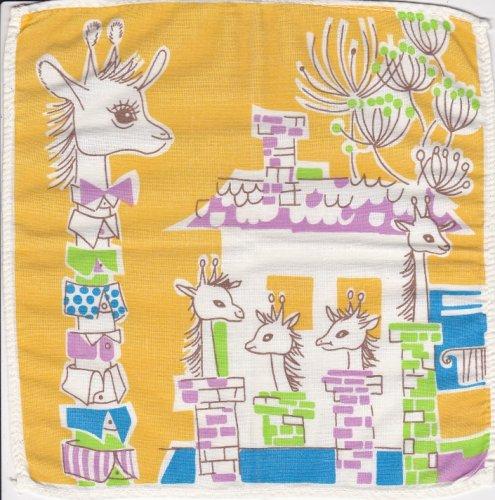 Zsiráfos, elefántos textil zsebkendők