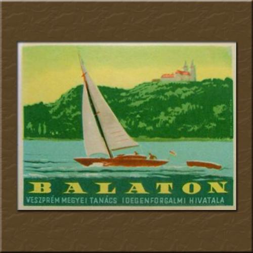 Balaton bőröndcímke