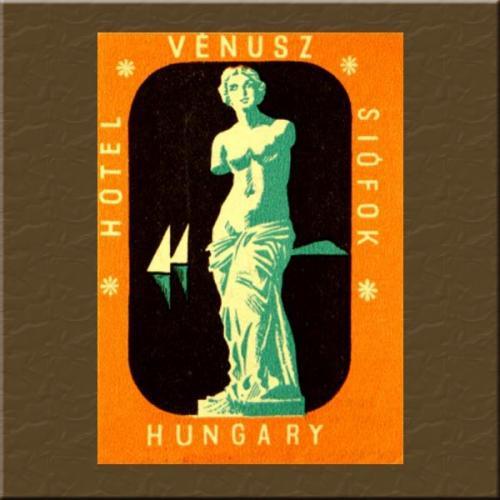 Siófok Venus Hotel bőröndcímke