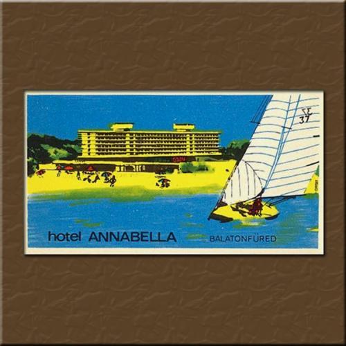 Balatonfüred Annabella Hotel bőröndcímke
