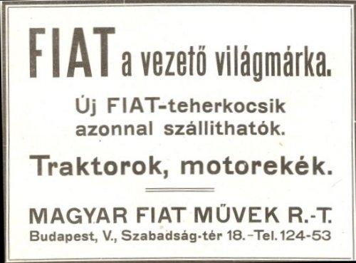 Fiat Művek R.T. reklámja