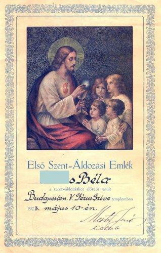 Első szentáldozási emlék