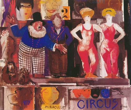 Aba-Novák Vilmos: Cirkuszi kikiáltók