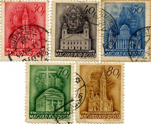 Templom bélyegsor