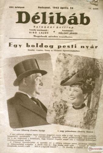 Délibáb újság Honthy Hanna és Csortos Gyula