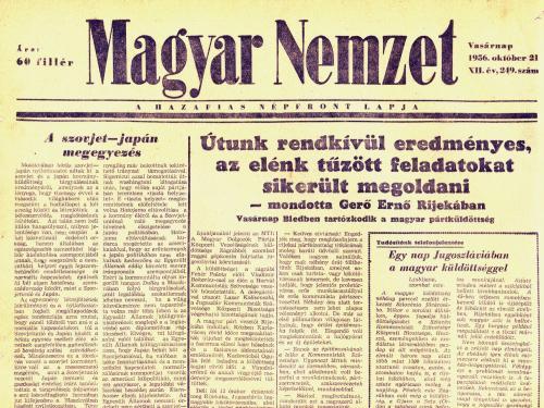 Magyar Nemzet - 1956 október 21.