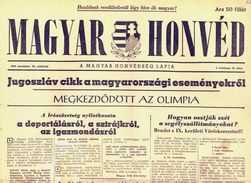 Magyar Honvéd - 1956 november 22