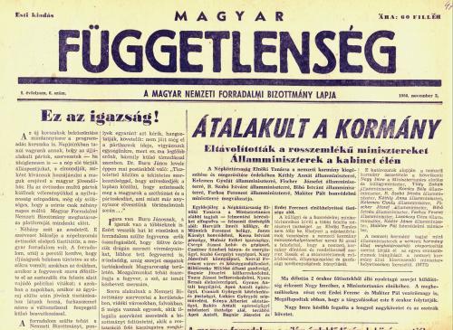 Magyar Függetlenség - 1956 november 3