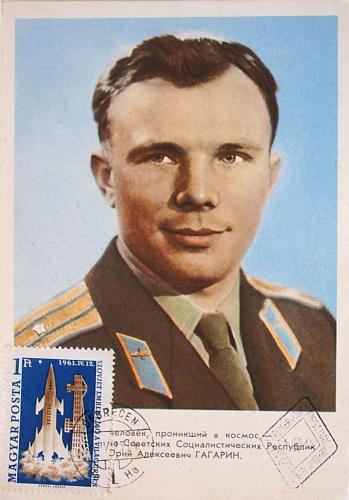 Gagarin emléklap
