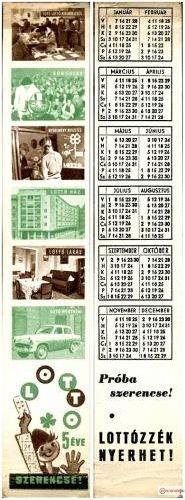 Lotto naptár könyvjelző