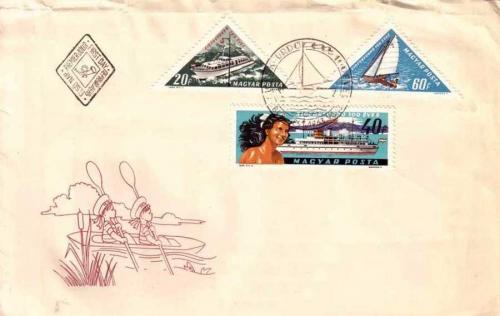 Siófokfürdő száz éves boriték bélyeg