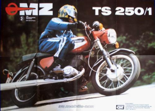 Motorkerékpár MZ TS 125-250