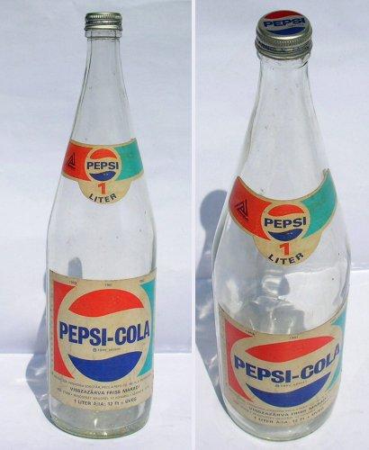 Pepsi-Cola üdítős üveg
