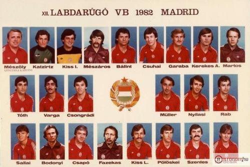 Magyar Labdarugó Válogatott  VB Madrid