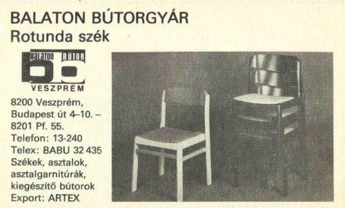 Balaton Bútorgyár - Rotunda szék