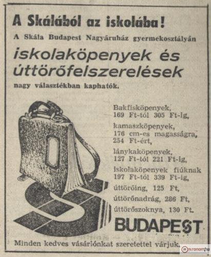 Skála Budapest hirdetés