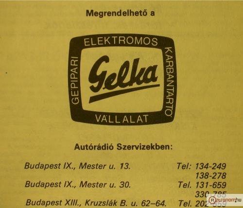 Gelka szervizek - Autórádió