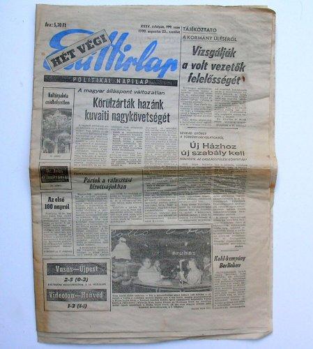 Esti Hírlap újság hét végi