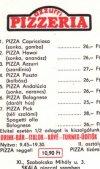 Pizzeria étlap