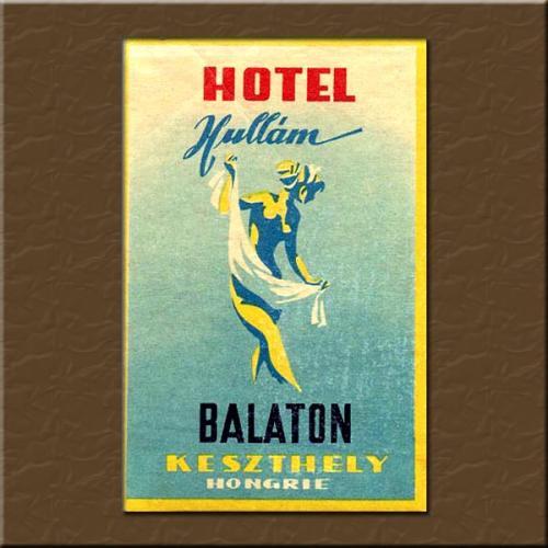 Keszthely Hotel Hullám  bőröndcímke