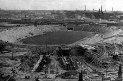 Népstadion építése