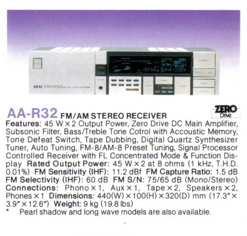 Akai AA-R32 rádióerősítő